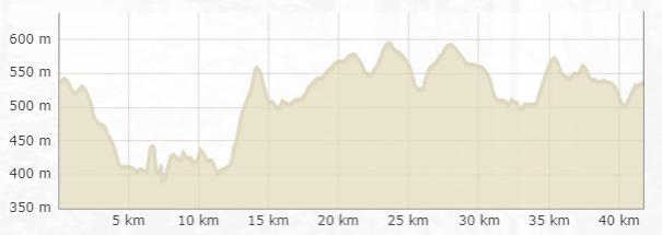 Höhenprofil beim Monschau Marathon